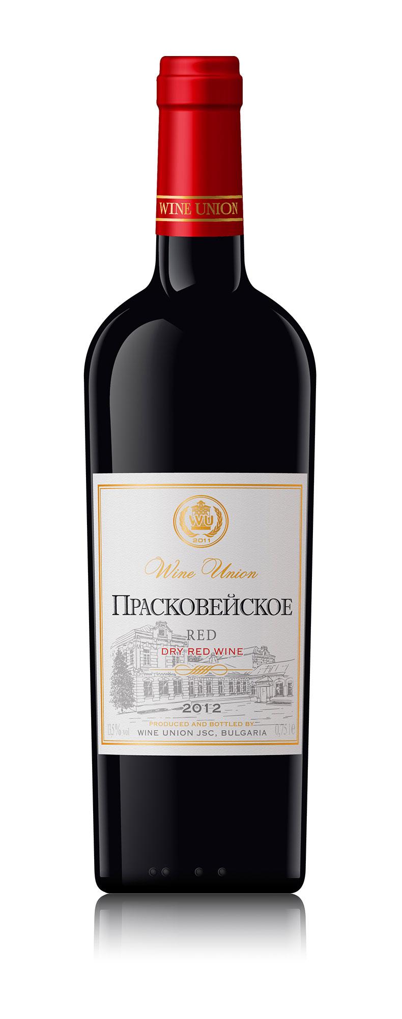 Dry Red Blended Wine Praskoveyskoe High Quality